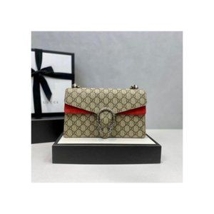 NWT 2021 Gucci Dionysus Small GG Shoulder Bag Red